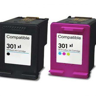 Conjunto de Tinteiros Compatíveis HP 301XL