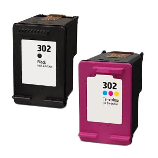 Conjunto Tinteiro Compatível/Reciclado HP 302XL
