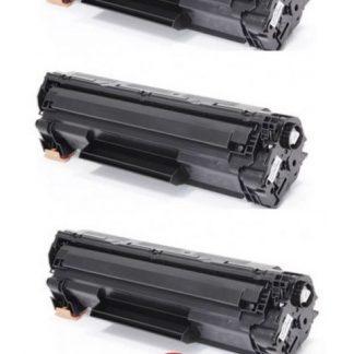 Conjunto 3x Toner HP 83A Black CF283A Compativel