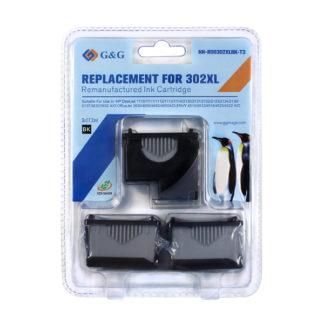 Tinteiro Compatível G&G HP 302XL V3 ECO-SAVER PRETO